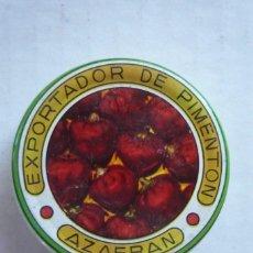 Cajas y cajitas metálicas: ESPINARDO (MURCIA). CAJITA METÁLICA PARA MUESTRAS DE PIMENTÓN. DIÁMETRO 5,5 CM.. Lote 129030808