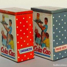 Cajas y cajitas metálicas: CAJAS METÁLICAS VINTAGE DE COLA-CAO, AÑOS 50-60 . Lote 123512679