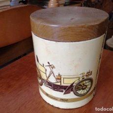 Cajas y cajitas metálicas: ANTIGUA CAJA CAJITA DE CARAMELOS EL AVION LOGROÑO. Lote 124010063