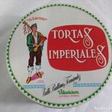 Cajas y cajitas metálicas: ANTIGUA CAJA METALICA/TORTAS IMPERIALES EL GAITERO/ASTURIAS.. Lote 124037031