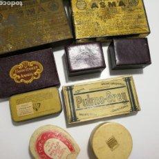 Cajas y cajitas metálicas: LOTE DE ANTIGUAS CAJAS DE PREPARADO FARMACEUTICO. Lote 125172220