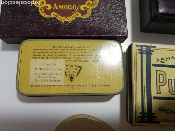 Cajas y cajitas metálicas: LOTE DE ANTIGUAS CAJAS DE PREPARADO FARMACEUTICO - Foto 4 - 125172220