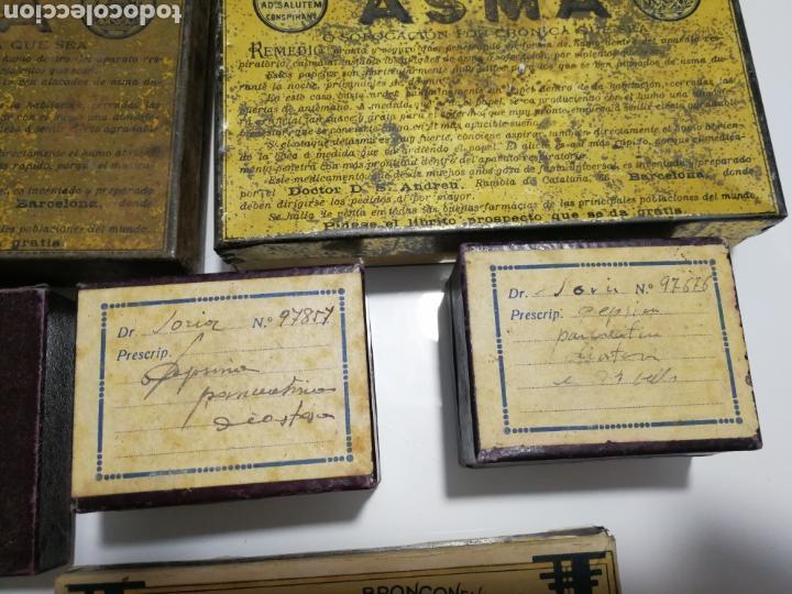 Cajas y cajitas metálicas: LOTE DE ANTIGUAS CAJAS DE PREPARADO FARMACEUTICO - Foto 5 - 125172220