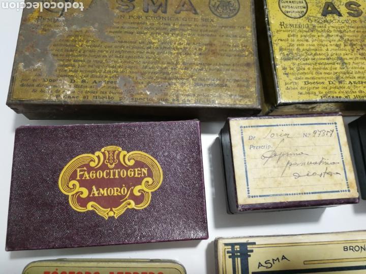 Cajas y cajitas metálicas: LOTE DE ANTIGUAS CAJAS DE PREPARADO FARMACEUTICO - Foto 6 - 125172220