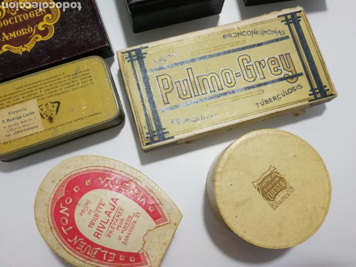 Cajas y cajitas metálicas: LOTE DE ANTIGUAS CAJAS DE PREPARADO FARMACEUTICO - Foto 9 - 125172220