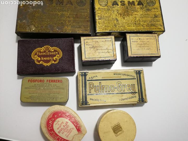 Cajas y cajitas metálicas: LOTE DE ANTIGUAS CAJAS DE PREPARADO FARMACEUTICO - Foto 10 - 125172220