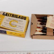Cajas y cajitas metálicas: CAJA DE FARMACIA GASTRIGADO LAB. SARRIÁS // SIN DESPRECINTAR. Lote 126183991