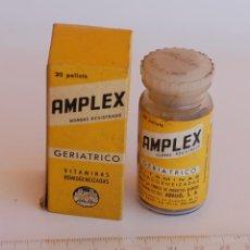 Cajas y cajitas metálicas: CAJA DE FARMACIA AMPLEX LAB. ABELLÓ // SIN DESPRECINTAR. Lote 126599595