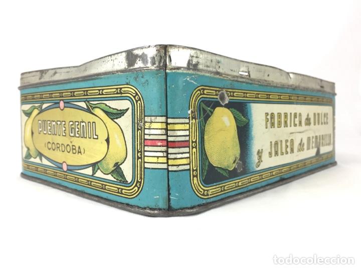 SOLANO Y RIVAS - PUENTE GENIL - DULCE Y JALEA DE MEMBRILLO (Coleccionismo - Cajas y Cajitas Metálicas)