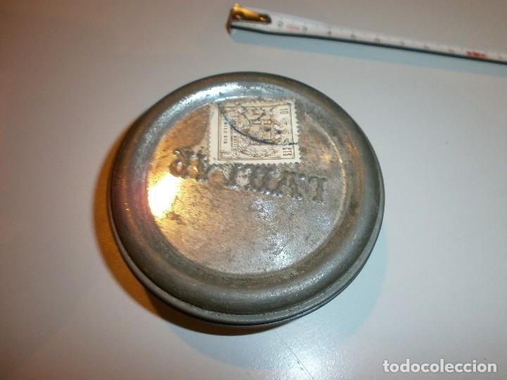 Cajas y cajitas metálicas: antigua caja l.villar valladolid pastas y cremas para calzados años 30 40 con el contenido sin usar - Foto 5 - 128647615