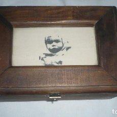 Cajas y cajitas metálicas: CAJA DE MADERA NOBLE. Lote 128648163
