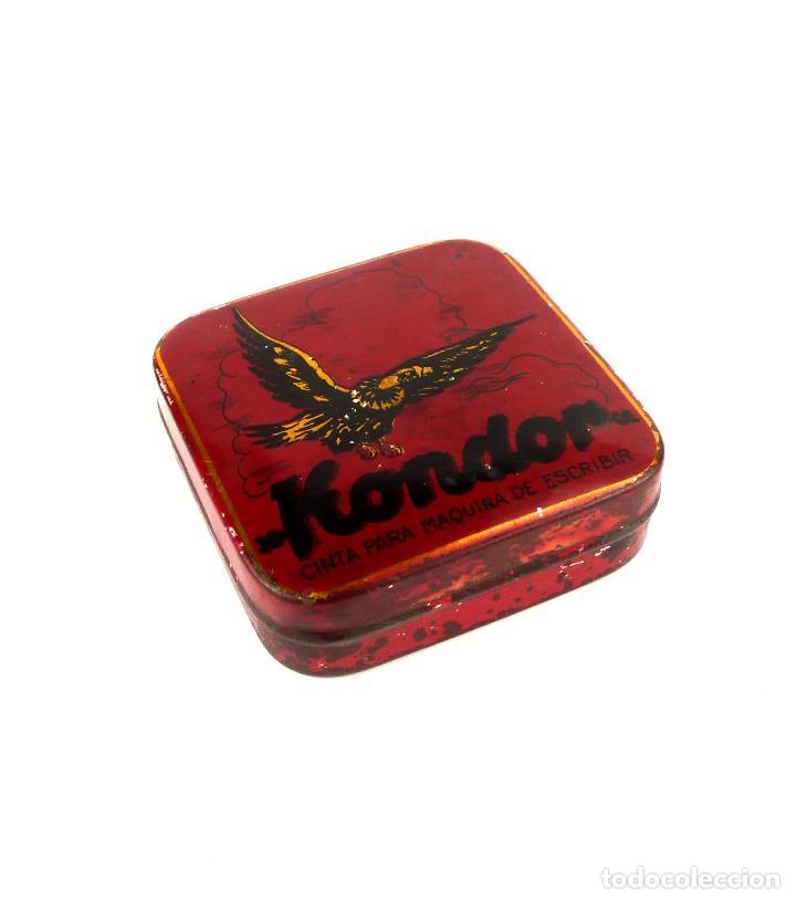 Cajas y cajitas metálicas: Antigua caja metal litografiado -Kondor - Foto 2 - 128815303