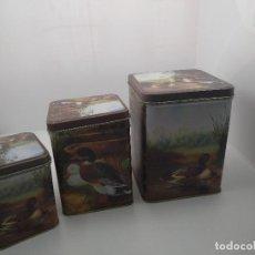 Cajas y cajitas metálicas: CAJAS DE PATOS. Lote 129643739