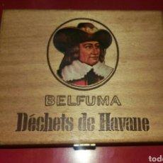 Cajas y cajitas metálicas: CAJA BELFUMA DÉCHETS DE HAVANE EN MADERA. Lote 130077446