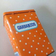 Cajas y cajitas metálicas: BONITA LATA DE COLACAO PARA GARBANZOS.. Lote 130498490