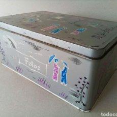 Cajas y cajitas metálicas: ORIGINAL Y BONITA LATA DE COLACAO LITOGRAFIADA.. Lote 130499531