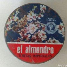 Cajas y cajitas metálicas: ANTIGUA Y BONITA LATA LITOGRAFIADA EL ALMENDRO.. Lote 130499774