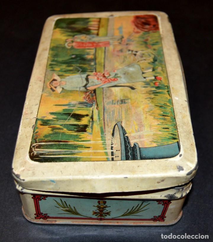 Cajas y cajitas metálicas: CAJA AÑOS 20 - CONFITERIA - A. MARON - ALCALA DE HENARES - Foto 2 - 130599010