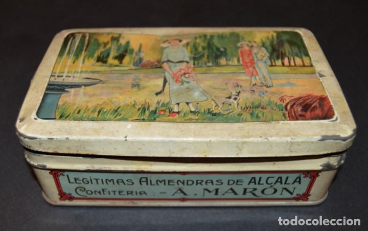 Cajas y cajitas metálicas: CAJA AÑOS 20 - CONFITERIA - A. MARON - ALCALA DE HENARES - Foto 3 - 130599010