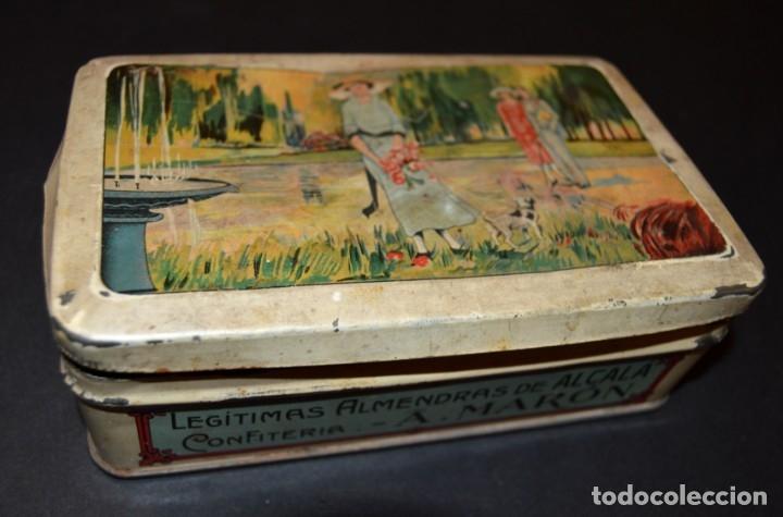 Cajas y cajitas metálicas: CAJA AÑOS 20 - CONFITERIA - A. MARON - ALCALA DE HENARES - Foto 5 - 130599010