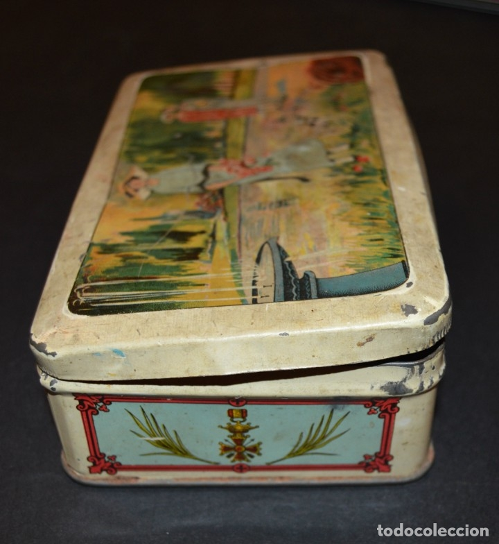 Cajas y cajitas metálicas: CAJA AÑOS 20 - CONFITERIA - A. MARON - ALCALA DE HENARES - Foto 6 - 130599010