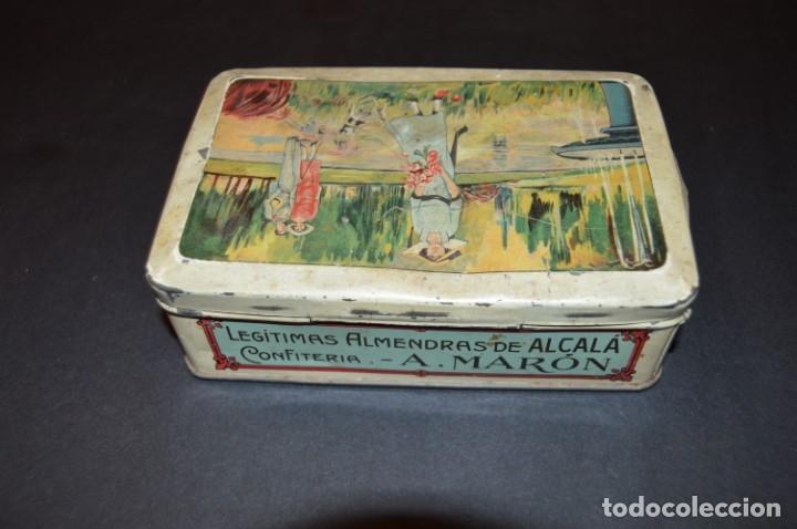 Cajas y cajitas metálicas: CAJA AÑOS 20 - CONFITERIA - A. MARON - ALCALA DE HENARES - Foto 8 - 130599010