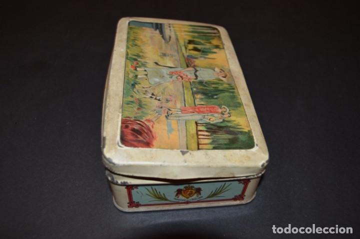 Cajas y cajitas metálicas: CAJA AÑOS 20 - CONFITERIA - A. MARON - ALCALA DE HENARES - Foto 9 - 130599010