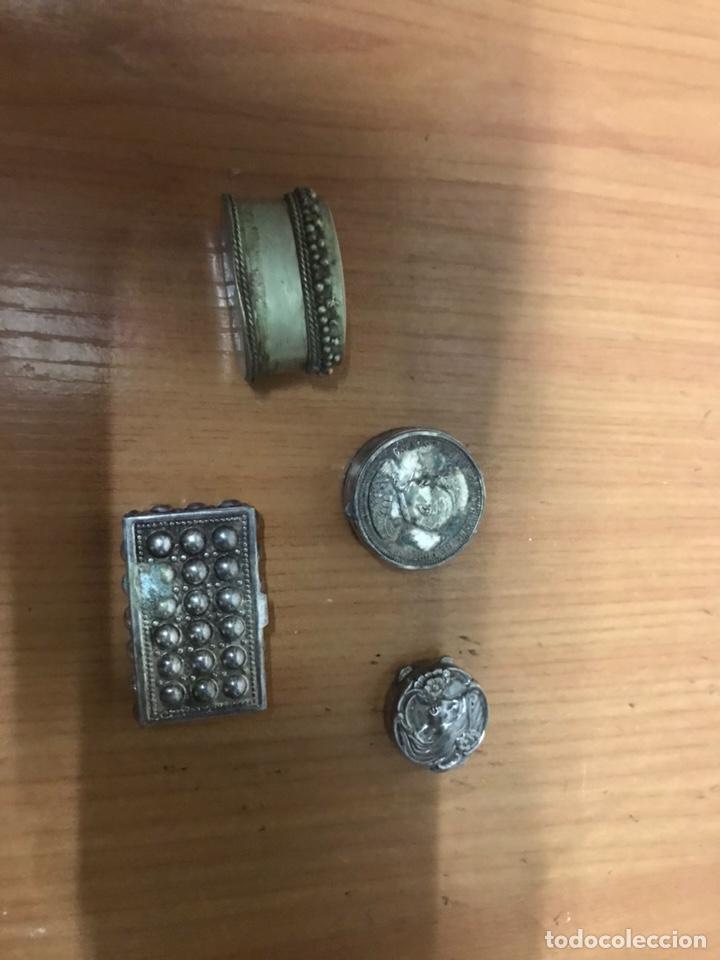 Cajas y cajitas metálicas: Lote Pastilleros en plata de ley - Foto 3 - 131080837