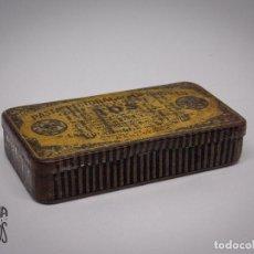 Cajas y cajitas metálicas: CAJA PASTA PECTORAL DEL DR ANDREU. Lote 131134592