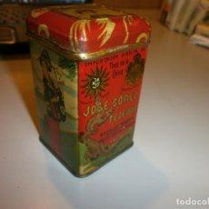 Cajas y cajitas metálicas: PRECIOSA CAJA AÑOS 30 JOSE GOMEZ TEJEDOR BADAJOZ THES DE LA CHINA (TE DE LA ESTRELLA). Lote 131440050