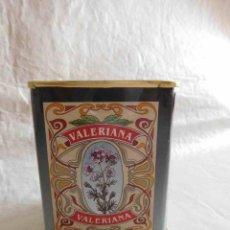 Cajas y cajitas metálicas: LATA LITOGRAFIADA DE VALERIANA. CON TAPA.. Lote 177649527