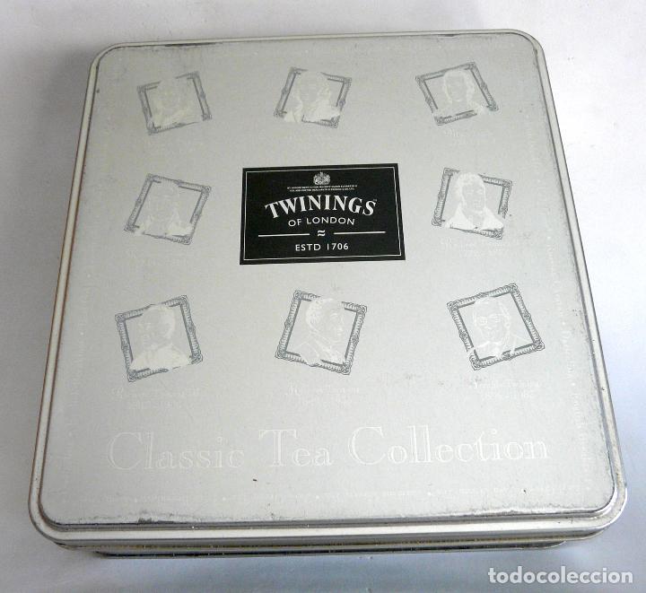 CAJA DE TÉ TWININGS - CLASIC COLLECTION - VACÍA - EDICIÓN COLECCIONISTA (Coleccionismo - Cajas y Cajitas Metálicas)