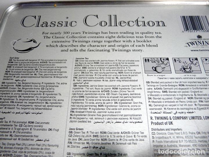 Cajas y cajitas metálicas: CAJA DE TÉ TWININGS - CLASIC COLLECTION - VACÍA - EDICIÓN COLECCIONISTA - Foto 7 - 132361990