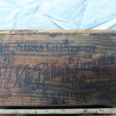 Cajas y cajitas metálicas: CAJA SIDRA - CHAMPAGNE GAITERO... VALLE BALLINO Y FDEZ. VILLAVICIOSA. ASTURIAS.. Lote 132437618