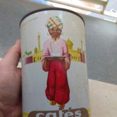 Cajas y cajitas metálicas: BOTE CAFÉS VALIENTE 500GR SERIGRAFÍA EN MARRÓN - MISLATA - VALENCIA. Lote 133042174