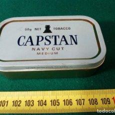 Cajas y cajitas metálicas: CAJA METALICA CAPSTAN PARA 50 GR. TABACO PIPA. Lote 133047186