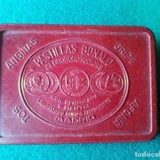 Cajas y cajitas metálicas: CAJITA DE BAQUELITA PASTILLAS BONALD. Lote 133053310