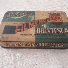 Cajas y cajitas metálicas: CAJA METAL ALMENDRAS DE BRIVIESCA LA TERE. Lote 133408727