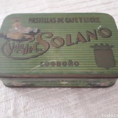 Cajas y cajitas metálicas - Caja metal Pastillas Café y Leche Viuda de Solano - 133408875