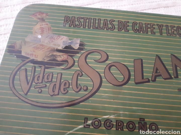 Cajas y cajitas metálicas: Caja metal Pastillas Café y Leche Viuda de Solano - Foto 2 - 133408875