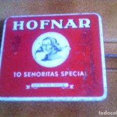 Cajas y cajitas metálicas: CAJITA METALICA DE CIGARROS HOFNAR MADE IN HOLLAND. Lote 134249290