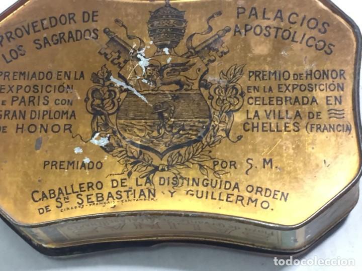 Cajas y cajitas metálicas: Caja hojalata litografiada Salinas Alcalá de Henares Imagen mujer joven rubia almendras - Foto 16 - 134317198