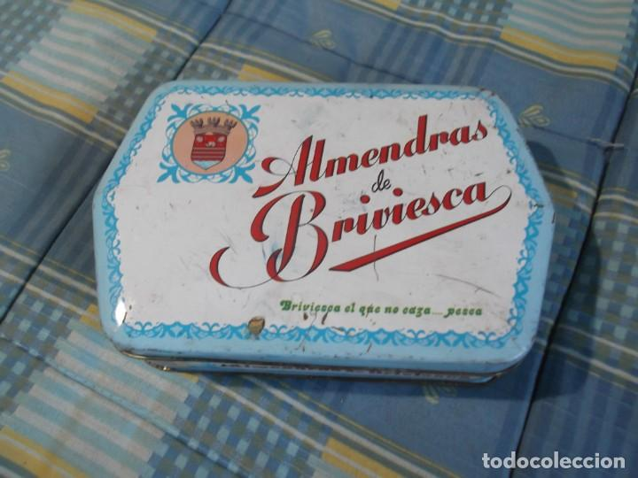 CAJA CHAPA ALMENDRAS BRIVIESCA (Coleccionismo - Cajas y Cajitas Metálicas)