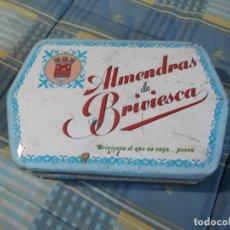Cajas y cajitas metálicas: CAJA CHAPA ALMENDRAS BRIVIESCA. Lote 134325126