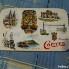 Cajas y cajitas metálicas: CAJA CHAPA ALMENDRAS CARRERA BRIVIESCA. Lote 134326282