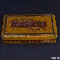 Cajas y cajitas metálicas: CIGARETTES GOLD FLAKE. FINEST VIRGINIAN TOBACCOS. Lote 134606062