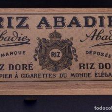 Cajas y cajitas metálicas: PAPIER A CIGARETTES RIZ ABADIE. Lote 134607646