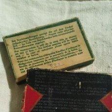 Cajas y cajitas metálicas: ANTIGUA CAJA DE AGUJAS PARA MAQUINA DE COSER (CARTON). Lote 134719254
