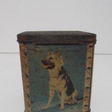 Cajas y cajitas metálicas: ANTIGUA CAJA HUCHA PERROS, EDWARD SHARP, MADE IN ENGLAND. Lote 135247094