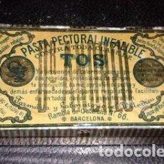Cajas y cajitas metálicas: CAJITA METÁLICA DE PASTA PECTORAL INFALIBLE CONTRA LA TOS, VACÍA, PUBLICIDAD MEDICINA. Lote 135484334